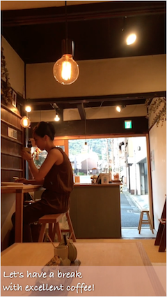 The coffee shop near Kiyomizu temple cherish daily life.
