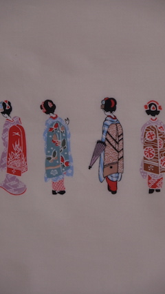 Souvenir shop & cafe, you can shop artistic hand towel in Gion until ten at night!